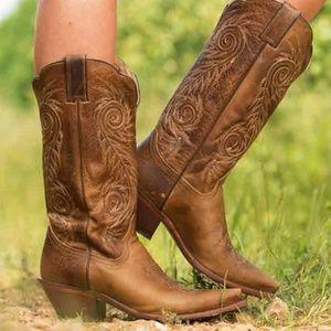 NWT Justin Women's Damiana Tan Cowboy Boots